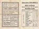 Red vožnje iz 1933. godine s reklamama za lokalne usluge; Preneseno s Foruma Kluba ljubitelja željeznica
