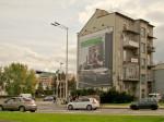 Južno pročelje na početku Zagrebačke avenije kao reklamni pano [GP 2013.]