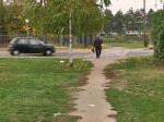 Dio staze koji nedostaje do Jablanske, a na njoj bi dobro došao pješački prijelaz. Snimio: Vanja