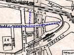 """Izvadak iz plana grada iz 1942. godine - Cihlar-Nehajeva ulica i neprikazan sjeverni """"odvojak"""""""