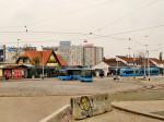 Krajnja točka Savske ceste - okretište tramvaja na Savskom mostu s preprekama za automobile [GP 2013.]
