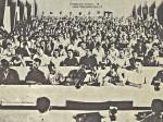 """Povijesna sjednica prvog Radničkog savjeta u tvornici """"Rade Končar"""" u staroj dvorani [autor nepoznat]"""