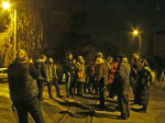 """Sudionici """"Predbožićne trešnjevačke dijagonale"""" 22.12.2013. u Klanječkoj ulici [GP 2013.]"""