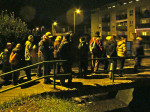 """Sudionici """"Predbožićne trešnjevačke dijagonale"""" 22.12.2013. na mostu preko potoka Črnomerca [GP 2013.]"""