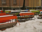 """Bašča pivnice """"Krivi put"""" na Savskoj cesti zimi [GP 2013.]"""