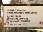 Intervencija grafitera na političkom plakatu [GP 2013.]