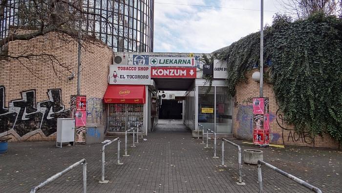 """Željeznički nadvožnjaci uz sportsko-poslovni kompleks """"Cibona"""""""