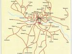 Mreža autobusnih linija ZET-a 1980. godine - preneseno iz Monografije ZET-a