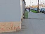 Grafit na početku Ulice (pjesnika) Silvija Strahimira Kranjčevića [VR 2014.]