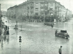 """Ugao Tratinske ulice i Kranjčevićeve ulice; iz izvanrednog broja """"Zagrebačke panorame"""", 1964."""
