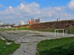 """Neizgrađeni koridor planirane """"produljene Šarengradske"""" uz željeznički nasip u zoni Knežije [GP 2014.]"""