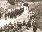 Svečana povorka Vatrogasne milicije na Rudeškoj cesti (oko 1955.) [Iz arhive g. Stjepana Šanteka]