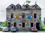 Oslikana ruina na Novoj cesti (srušena tokom 2014.) [SP 2014.]