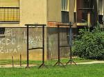 Okviri za isprašivanje tepiha u paru - Ulica Tina Ujevića [GP 2014.]