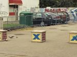 Neuobičajena trojka prepreka protiv parkiranja na Trešnjevačkom trgu [GP 2014.]