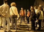 """Sudionici šetnje po Ciglenici na bivšem pružnom prijelazu """"Samoborčeka"""" u Klanječkoj ulici [BT 2014.]"""