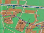 Područje Prečkog na kojem je došlo do prekidanja ulica pretvaranjem Matetićeve ulice u tramvajski koridor [VR 2015.]