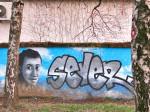 Mural u spomen na Domagoja Severa u školskom dvorištu OŠ Kralja Tomislava (VR 2015.)