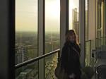 Sudionica razgledavanja na posljednjem katu zgrade Sky Office-a [GP 2015.]