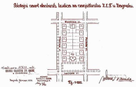 Stambene kućice namještenika ZET-a na Pongračevom (1931.)