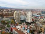 """Pogled s najvišeg kata hotela """"Panorama"""" prema sjeveroistoku [VR 2015.]"""