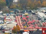 """Pogled s najvišeg kata hotela """"Panorama"""" na Trešnjevačku tržnicu na jugu [VR 2015.]"""
