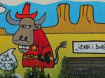 Grafit na trafo-stanici u dvorištu Osnovne škole Kralja Tomislava na Novoj cesti [GP 2016.]