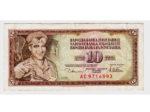 Novčanica od 10 dinara s likom talioničara-udarnika Alije Sirotanovića iz razdoblja 1965-81. [VT 2016.]