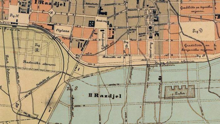 Plan grada s područjem Trnja (II Razdjel) iz 1898. godine [VR]