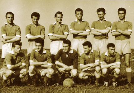 Momčad NK Trešnjevka 1955.-1956. Hercigonja dolje desno zadnji
