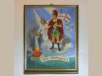 """Sveti Florijan, zaštitnik vatrogasaca; slika u sjedištu DVD """"Trešnjevka [GP 2017.]"""""""