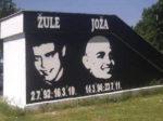 In memoriam mural za Žulu i Jožu u Vrbanima [AB 2011.]
