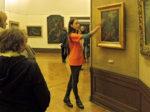 """Aktivna prezentacija volonterke tokom """"Noći muzeja 2019."""" u galeriji HAZU [GP 2019.]"""