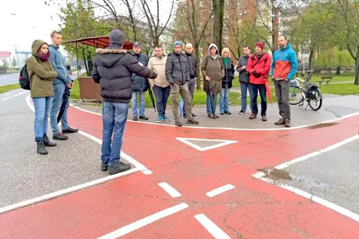 """Sudionici šetnje """"Biciklističke i pješačke staze Trešnjevke"""" [DF 2019.]"""