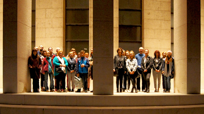 The participants of 'Playful City' walk with Iva Silla beside Meštrović Pavillion [GP 2019.]