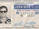 Godišnja studentska (i đačka!) iskaznica ZET-a za 1972. godinu [IK 2020.]