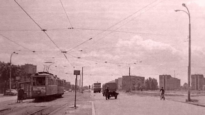 """Iz knjige """"Tramvaj u Zagrebu"""" - Bivše okretište tramvaja u Držićevoj ulici ~ 1962. [Trnje]"""