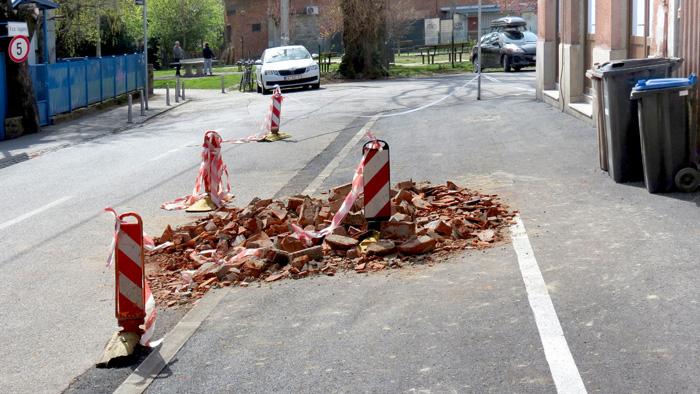Posljedica potresa (22.3.2020.) u Petračićevoj ulici [VR 2020.]