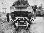 Prijevoz tenka u Vojni remontni zavod u Bregani; Snimljeno 60-ih; Preneseno s Foruma Kluba ljubitelja željeznica