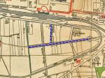 Izvadak iz plana grada iz 1926. godine - Ulice u tom dijelu još su u fazi projekta