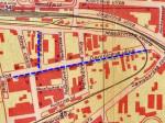 Izvadak iz plana grada iz 1950. godine - Daničićeva ulica i Nehajeva II