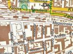 Izvadak iz plana grada iz 1990-ih godina - Ulica Andrije Žaje i Jonkeova