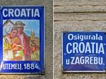 Emajlirane tablice Osiguravajućeg društva Croatia - rad tvrtke A.Westen d.d - Celje [VR 2013.]