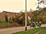 Magazinska cesta sa zidom od betonskih blokova prema željezničkoj pruzi [GP 2013.]