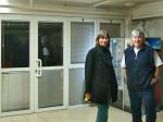 Urednica Mapiranja Trešnjevke Saša i suradnik Vladimir u prostorijama CKT-a [GP 2013.]