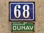 """Tablica osiguravatelja """"Dunav"""" na kući na Fallerovom šetalištu [GP 2013.]"""
