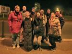 """Najuporniji sudionici """"Predbožićne trešnjevačke dijagonale"""" na cilju - okretištu tramvaja u Prečkom [BT 2013.]"""
