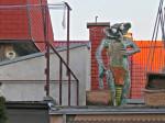 Skulptura na krovu kuće u Javorskoj ulici autora Marina Marinića [VR 2013.]