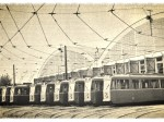Prototipna kola ispred hangara na Remizi 1957. godine - preneseno iz Monografije tramvaja tipa 101