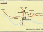 Mreža autobusnih linija ZET-a 1955. godine - preneseno iz Monografije ZET-a